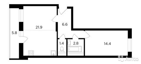 2-к квартира, 50 м, 4/17 эт.