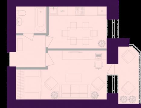 Продается квартира г Тула, ул Октябрьская, д 269, Купить квартиру в Туле, ID объекта - 333080004 - Фото 1