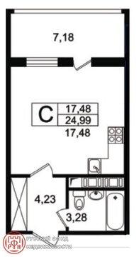 Продам студию. Космонавтов пр, д.102 к.3, Купить квартиру в Санкт-Петербурге, ID объекта - 332866006 - Фото 3