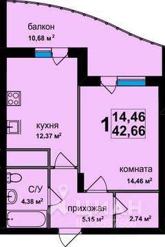 1-к кв. Владимирская область, Владимир ул. Фейгина, 17 (42.7 м)