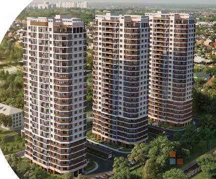 1-я квартира, 40.41 кв.м, 23/24 этаж, фмр (микрорайон), им Каляева ул, .