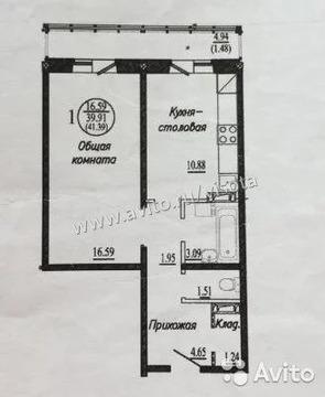 1-к квартира, 40 м, 18/18 эт.