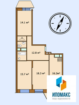 Продается 3-комнатная квартира в г. Апрелевка, Купить квартиру в Апрелевке, ID объекта - 333996611 - Фото 12