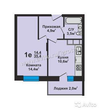 1-к квартира, 35.4 м, 17/17 эт.