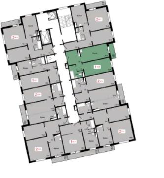 Продам 1 комн. Ж/К Мичурино, д.2, стр. 1, Купить квартиру от застройщика в Красноярске, ID объекта - 333911445 - Фото 1