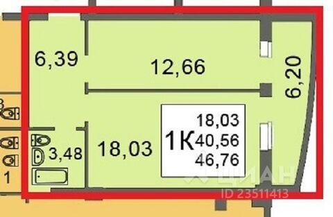 1-к кв. Саратовская область, Саратов Шелковичная ул, 210б (47.0 м)