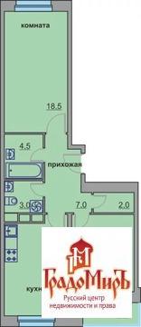 2-комнатная квартира, 62,6 кв.м, 3/9 эт.