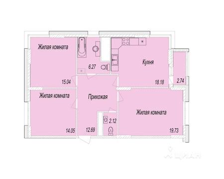 3-к кв. Московская область, Мытищи Олимпийский просп. (89.47 м)