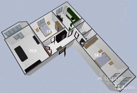 3-к квартира, 85 м, 5/17 эт.