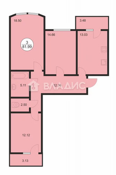 Владимир, Мира ул, д.4, 3-комнатная квартира на продажу
