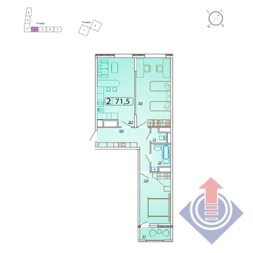 Продажа квартиры, Мытищи, Мытищинский район, Купить квартиру от застройщика в Мытищах, ID объекта - 328979128 - Фото 1