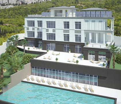 Недостроенная гостиница у моря в самой южной точке Крым
