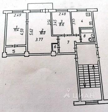 3-к кв. Калужская область, Калуга пл. Победы, 14 (60.0 м)