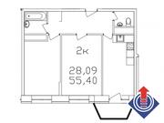 """2-х комнатная квартира 55,4 кв.м. в ЖК """"Весна"""" г.Апрелевка, Купить квартиру от застройщика в Апрелевке, ID объекта - 306989917 - Фото 2"""