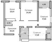 3-к кв. Саратовская область, Саратов Вольская ул, 2д (118.6 м)